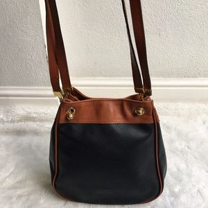 Vintage Bottega Veneta Leather Bag Black Brown